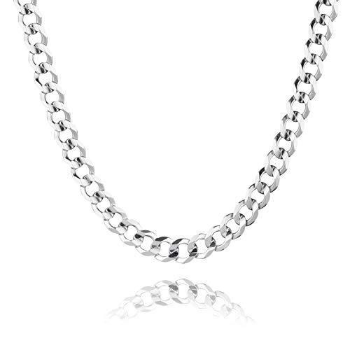 STERLL Herren Hals-Silberkette Sterling-Silber 925 55 cm Ohne Anhänger Geschenkbox Geschenke für Männer
