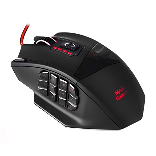 Mars Gaming MM4 - Ratón gaming para PC (16400 DPI, sensor láser...