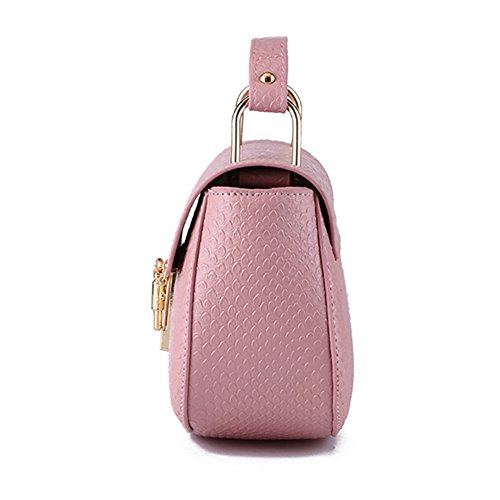 Myymee Donna Coccodrillo Modello Sacchetto del Messaggero Moda Borsa a Tracolla Rosa Ciliegia