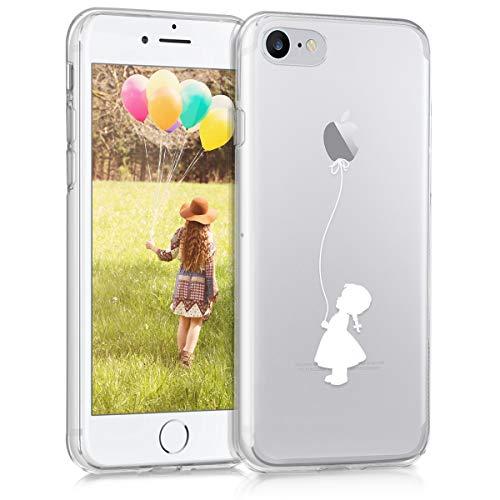 ndy Tasche 11,9 cm (4,7 Zoll) Softcase transparent, weiß - Handyhüllen (Soft Case, Apple iPhone 7, 11,9 cm (4,7 Zoll), transparent, weiß) ()