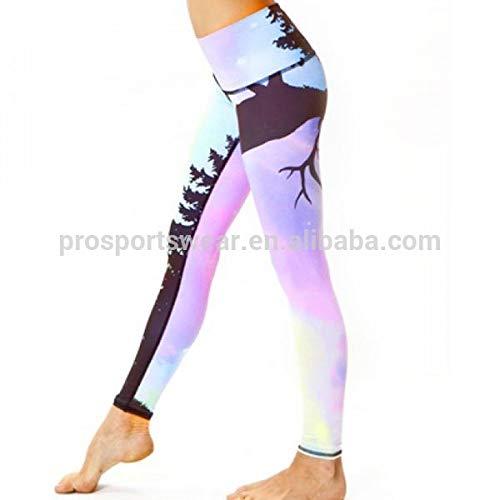YUJIAGE Frauen professionelle Sublimation Supplex Leggings Großhandel Fitness Yoga Hosen-XXL - Supplex Yoga-hose