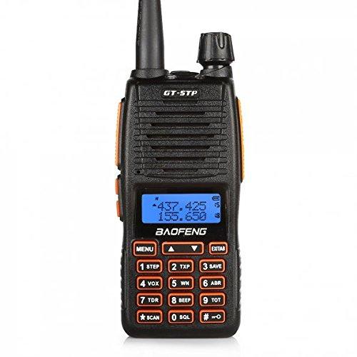 Baofeng GT-5TP VHF/UHF Funkgerät Dual Band Tri-Power Walkie-Talkie mit 2000mAh Batterie und Headset, Schwarz Vhf-uhf-repeater