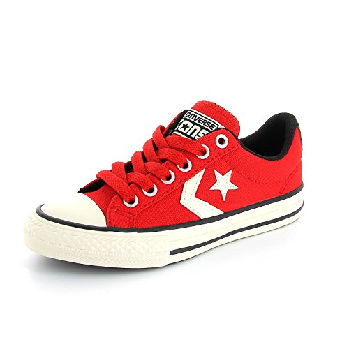 Converse Kids All Star Player EV Ox Casino Textile Trainers Rot