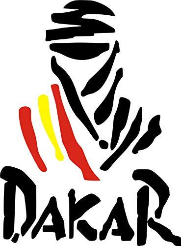 Pegatina Vinilo Logo Dakar España - Casco, Coche, Moto, Bici, Tabla Skate, etc. Kit de 2 Pegatinas ...