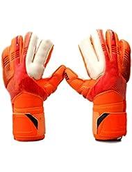 Anam - Guantes de portero con protección para dedos, para jóvenes y adultos–tallas 5–10, Size 7 Orange