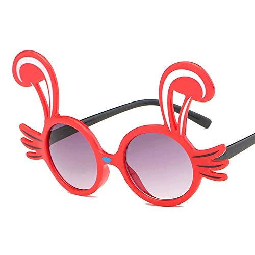 MoHHoM Sonnenbrillen Für Kinder,Niedliche Kaninchen Form Flexible Kinder Sonnenbrille Polarisierte Kind Baby Sicherheit Beschichtung Sonnenbrille Uv400 Brillen Farben Kleinkind Rot