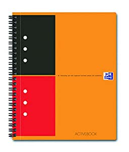 Oxford International Activebook Cahier A5+ Polypro 160 Pages Ligné 6 mm