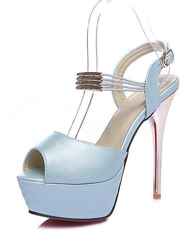 UWSZZ IL Sandali eleganti comfort Scarpe Donna-Sandali-Matrimonio / Ufficio e lavoro / Formale / Casual / Serata e festa-Tacchi / Spuntate-A stiletto-Finta pelle-Blu / Red