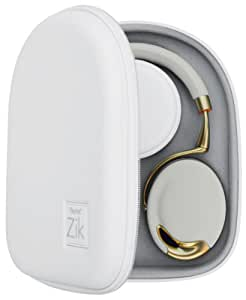 Parrot Zik Headphones Hard Shell Case with Zip Closure in White and Grey