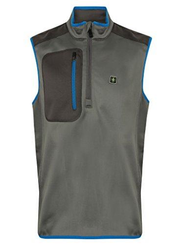Island Green 2017 1/2 Zip Thermal Bonded Fleece Sleeveless Top Mens Golf Bodywarmer Vest Charcoal XL Fleece Sleeveless Zip
