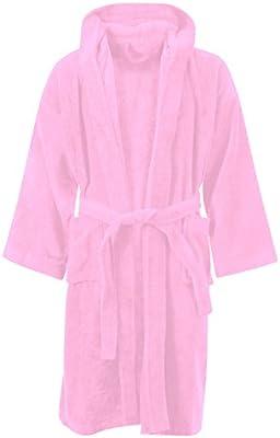 MyShoeStore® Albornoz para niños, 100% algodón egipcio, con capucha, muy suave y cómodo