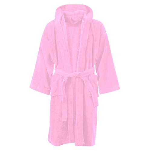 KIDS BOYS GIRLS BATHROBE 100% EGYPTIAN COTTON LUXURY VELOUR TOWELLING HOODED DRESSING GOWN SOFT FINE COMFORTABLE NIGHTWEAR TERRY TOWEL BATH ROBE LOUNGE WEAR HOUSECOAT WITH POCKETS
