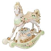 ZhengFei Ornaments Trojan Music Box Rocking Horse Music Box To Send Girls Children Baby Creative Desktop Ornaments Children
