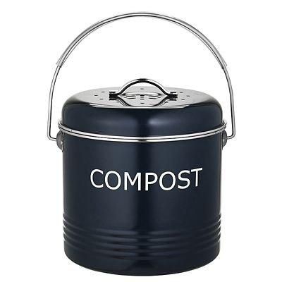*Komposteimer für die Küchenanrichte in Schiefergrau, 3.5Liter*