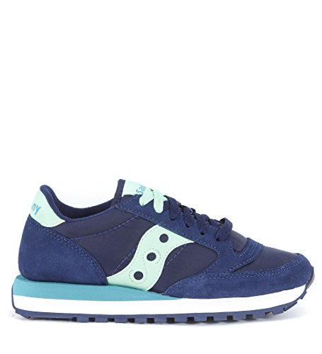Saucony-Jazz-Original-Scarpe-Low-Top-Donna-NavyMint-EUR40-UK-65-US-85