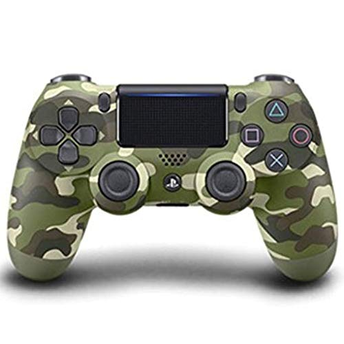 OOFAY Bluetooth Controller Wireless Joystick Für PS4 Doppelte Vibration Gamepad PS4 Game Controller (Armee-Grün-Grau Camouflage),Green