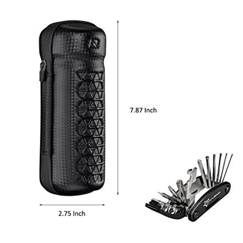 RockBros Reparatur Werkzeugtaschen Wasserfeste Taschen Fahrradtaschen Mit RockBros Multifunktioneller Reparatur Werkzeug 16 in 1 Schwarz