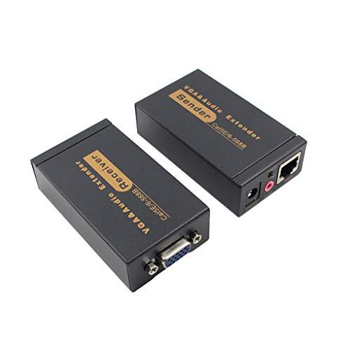 2ST VGA Extender VGA-Kabel Sender Empfänger 100 Meter Extender VGA zu RJ45 Verstärker Unterstützung für DVR-Festplatte HD 3D -