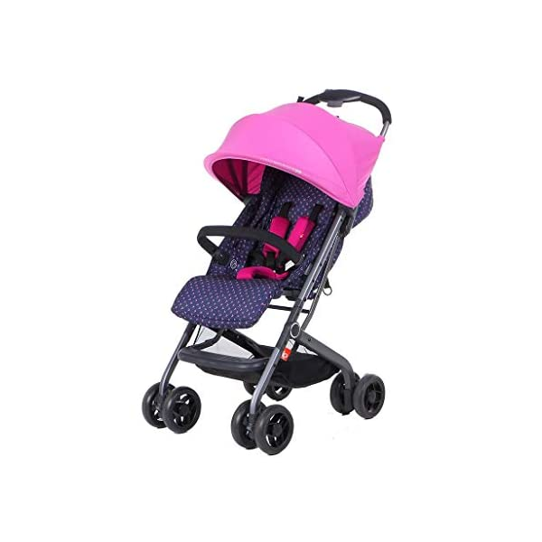 MU Comfortable Pushchairs Collapsible Stroller,One-Hand Brake, Can Sit Reclining Baby Pushchair Stroller, with Storage Basket Four-Wheel Shock Absorber Lightweight Folding Buggy Stroller,Rose red Mu The adjustable 5-point safety harness has comfortable shoulder pads, The sturdy frame has a wider seat which results in a more comfortable ride for your child The stroller can be easily folded, smaller and more portable; the adjustable backrest angle can be seated or lying down, as well as a large shopping basket and caster Comfortable sleep, eight-wheel shock absorber, built-in spring, adapt to all kinds of road conditions, baby ride more comfortable 2