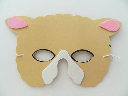 Maske Schaf f. Kindergeburtstag Karneval Fasching Tier Tiere Masken Theater Bauernhof Schäfchen (Schäfchen Tier Kostüm)