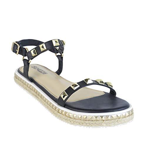 BeMeesh Alpargata Mujer Tachuelas Zapatos Cuerdas