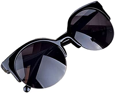 zolimx Vintage Retro Cat ojo borde semi redondas gafas de sol