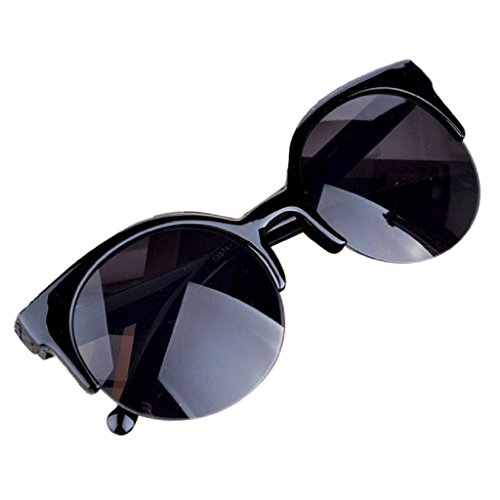 zolimx Vintage Retro Cat ojo borde semi redondas gafas de sol (B)