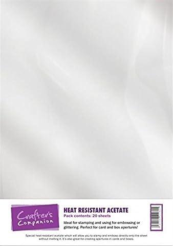 Crafter's Companion imprimable carte, Blanc, 160g/m², 25pièces, Heat Resitant Acetate, 20 sheets