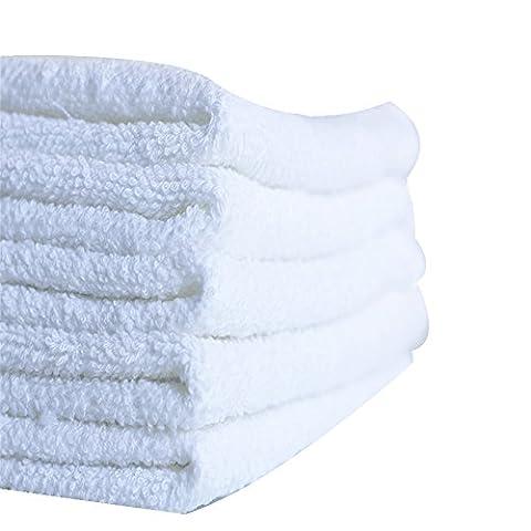tellm 30PCS/lot25* 25cm weiß Einweg Hotel Wischen Handtuch reine Baumwolle quadratisch Schal Kinderzimmer Baby Taschentuch quadratisch Waschlappen,