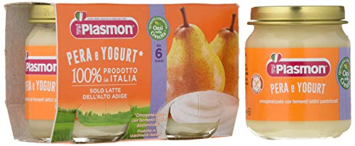 Plasmon Omogeneizzato di Yogurt Pera 24 pezzi da 120 gr