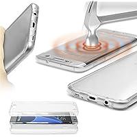 URCOVER® 360 Grad Case Cover Protettiva | Custodia Samsung Galaxy S7 Edge | Silicone TPU in Trasparente | Protezione Schermo Ultrasottile Back Antigraffio Screen Protector