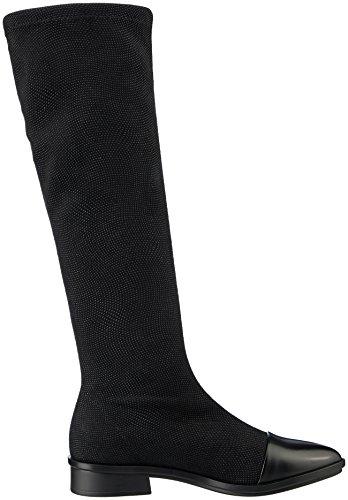 NR RAPISARDI Damen E703 Stiefel Schwarz (Black Caviar/Black BOSTON)