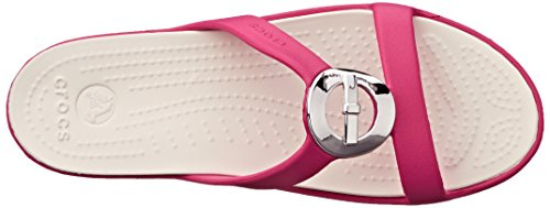 Crocs Sanrah Cercle Bow Sandal Raspberry/Oyster
