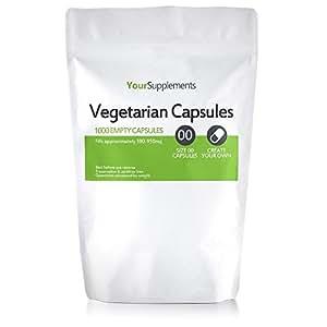 "Your Supplements - Gr.""00"" Vegetarische Leerkapseln, Transparent, 1000 Stück"