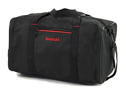 Benzi Reisetasche Ryanair Kompatibel Zweite Hand Gepäck 35 x 20 x 20cm - Schwarz/Rot, S