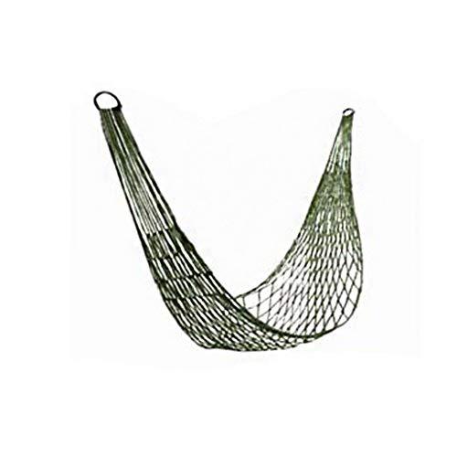 Zeng ling liang-Columpios Silla de suspensión portátil de Nylon Solo Hamaca de Malla de Nylon de Ocio al Aire Libre Ocio con 2 Metros de Cuerda Larga (Color : Green)