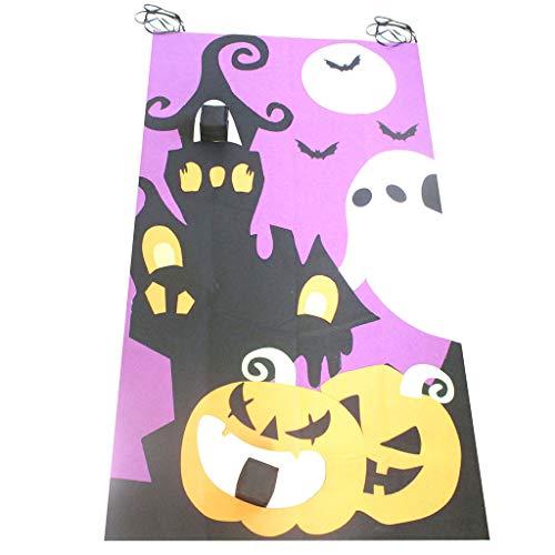 Floweworld Halloween Kürbis hängen werfen Spiel Halloween Kürbis Dekoration Sitzsack werfen Spiele Halloween Dekorationen Filz Ornamente Party Game Family - Schnelle Und Einfache 50er Jahre Kostüm