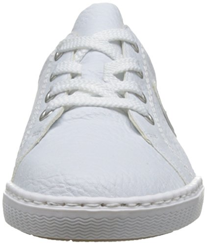 Rieker L0913, Sneakers Basses Femme Blanc (weiss/argento/Weiss / 80)