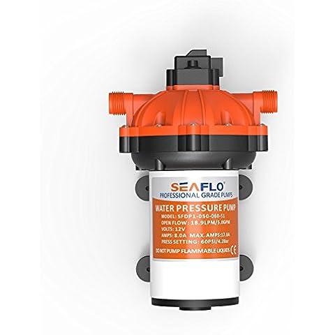 SeaFlo 12V Acqua Diaframma Pompa a pressione 18,9L/min 5GPM 60psi Marine RV Boat Automotive - Rv Serbatoio