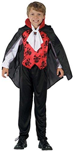 Vampire Halloween Für Kostüme Kinder (Schickes Graf Vampir Kostüm Kinder Halloween - Vampirkostüm Kinder Jungen - Kostüm Kinder Vampir)