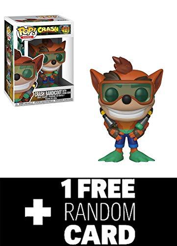 FunkoPOP Crash Bandicoot: Crash Bandicoot Scuba Gear & 1 Random Gaming Trading Card