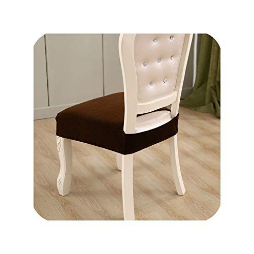 dudifeng Samtstoff Sitzbezug Elastische Stuhlhussen Elasthan, Abnehmbarer Kissenbezug Stuhlbezug für Esszimmer, Küche, Restaurant, Farbe 8, 1 Stück