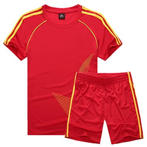 Inlefen Fußballuniform Passen Kind Kurz ÄrmelTrikot und Shorts Jungs Mädchen Trainingsanzug (Fußball Kostüm Kinder)