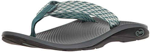 Womens Teal Schuhe (Chaco Women's Flip Ecotread Athletic Sandal, Trellis Teal, 6 M US)