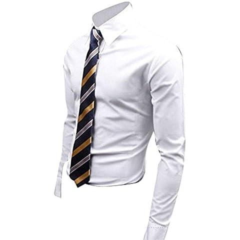Jeansian Uomo Camicie Maniche Lunghe Moda Men Shirts Slim Fit Casual Long Sleves Fashion 8504