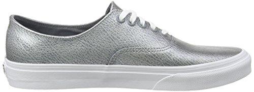 Vans Authentic Decon, Baskets Basses Mixte Adulte Gris (Metallic Leather/Gray)
