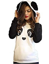 Hustle Bustle Panda Hoodie for Women for Sweatshirt for Girls and Women Hoodie for Girls and Women