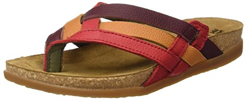 El Naturalista Nf48 Soft Grain Zumaia, T-Strap Sandals Femme Multicolore (Grosella Mixed)