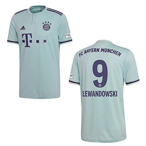 Herren Away Trikot (adidas Bayern Trikot Away Herren 2019 - Lewandowski 9, Größe:L)