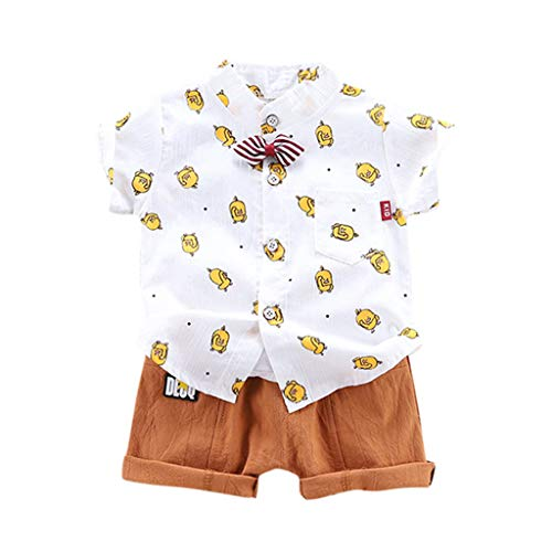 Pageantry Baby Boy Bekleidung Kurzarm Fliege Gentleman Drucken T-Shirt Tops + Shorts Outfits Polo Shirt Top Kurze Hose Little Kid Kleidung Set Sommer Kleidung